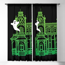 Haunted Victorian House Blackout Curtain