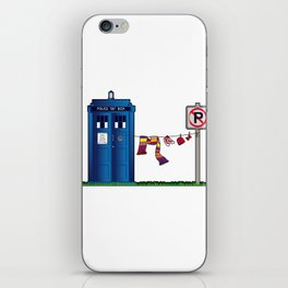 Doctor Who: tardis wardrobe  iPhone Skin