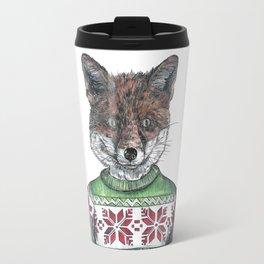 Fantastic Mr Fox (in a smashing christmas jumper) Travel Mug