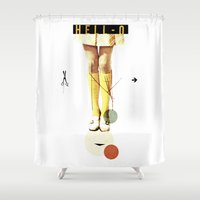 collage Shower Curtains featuring Cut The (...) | Collage by Julien Ulvoas