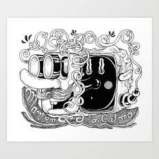 Mantén la calma Art Print