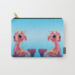 Peach Baby Sea Serpent and Carry-All Pouch