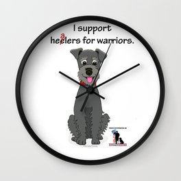 Schnoodle Supporting Healers Wall Clock