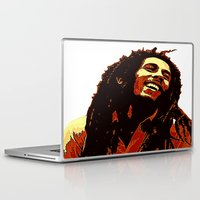 reggae Laptop & iPad Skins featuring the god of reggae by  Agostino Lo Coco