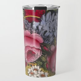 Vintage Floral Basket Illustration (1872) Travel Mug