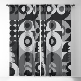 Geometry Games V / Black Palette Blackout Curtain
