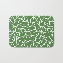 Branches - green Bath Mat