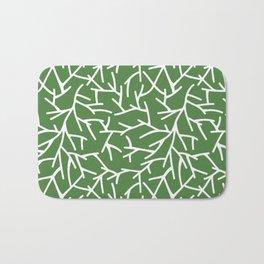Branches - green Bath Mat