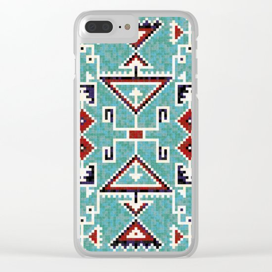 Native American Navajo pattern Clear iPhone Case