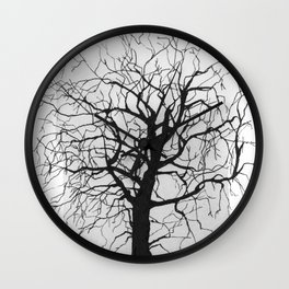 Ink trees 04 Wall Clock