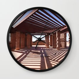 Shadows And Lights On Marrakech Rooftop Wall Clock