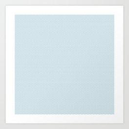 U12: postal blue Art Print