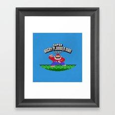 Super Angry Plumber Man Framed Art Print