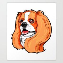 Cavalier King Charles Cocker Spaniel Dog Puppy Art Print