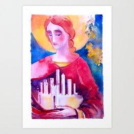 Santa Fina Art Print