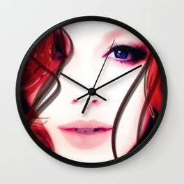 Christina Hendricks Up Close Wall Clock