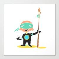 super hero Canvas Prints featuring Super Hero by La Lanterne