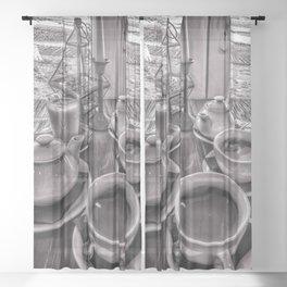 Brunch in grey Sheer Curtain