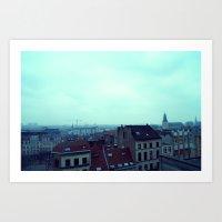 brussels Art Prints featuring Brussels by Liselotte Verhagen