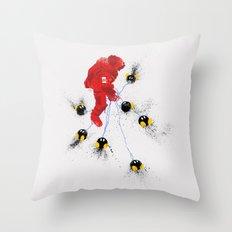 Mario's Hurt Locker Throw Pillow