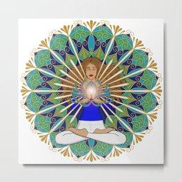 Divine Spark Mandala Metal Print