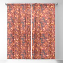 Fire for decorative products Sheer Curtain