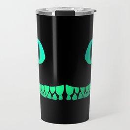 Cheshire black smile Travel Mug