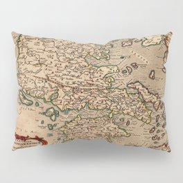 Map Of Macedonia 1695 Pillow Sham
