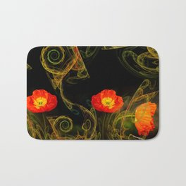 Decorative poppy Bath Mat