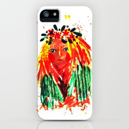 Forest girl iPhone Case