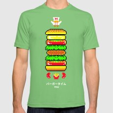 BurgerTime Grass LARGE Mens Fitted Tee