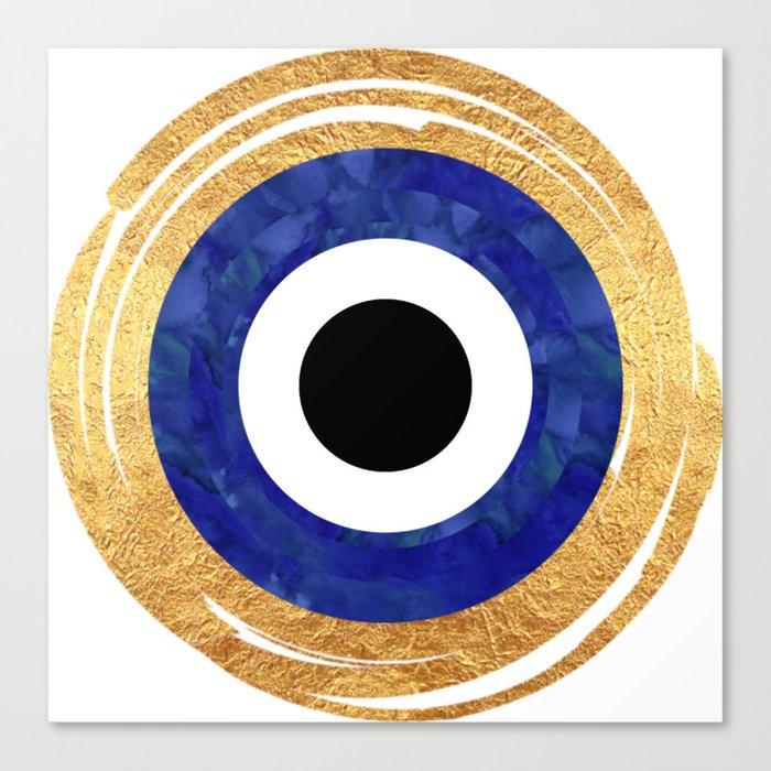 Modern Evil Eye Medallion Leinwanddruck