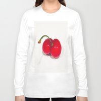 cherry Long Sleeve T-shirts featuring Cherry by Jose Luis