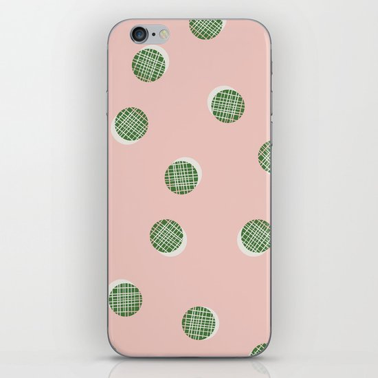 Mixed Dots - in Peach iPhone & iPod Skin