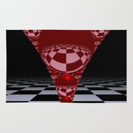 Apollonian gasket - red Rug
