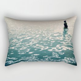 Lady in swimming pool Rectangular Pillow