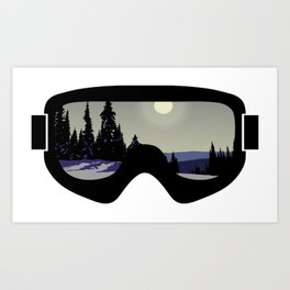 Morning Goggles Art Print