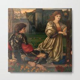 "Edward Burne-Jones ""The Love Song"" Metal Print"