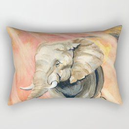 Mom and Baby Elephant Rectangular Pillow