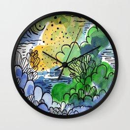 Green fantasy Wall Clock