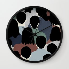 STANDING IN A CROWD Wall Clock