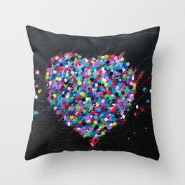 Hearts Murales Throw Pillow