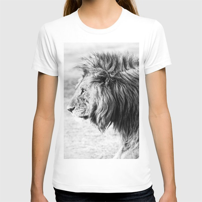 Black and White Lion T-shirt