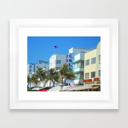Miami Welcome Framed Art Print
