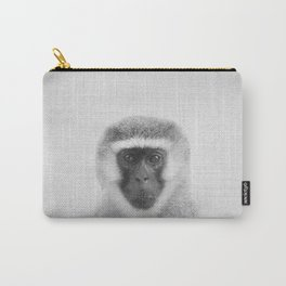 Monkey - Black & White Carry-All Pouch