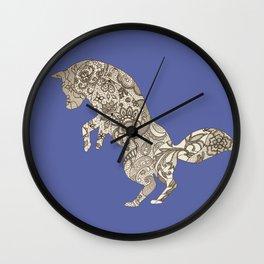Lace Fox Wall Clock