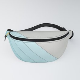 Sky blue and grey Fanny Pack