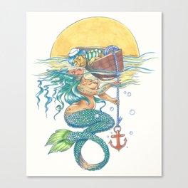 Sinking Desire Canvas Print