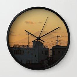 Mt. Fuji Sunset Wall Clock