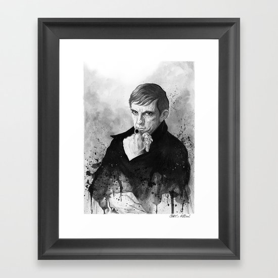 Barnabas Collins DARK SHADOWS Framed Art Print